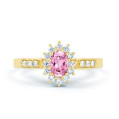 Starlight Pink Sapphire and Diamond Engagement Ring image 0