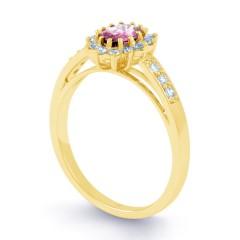 Starlight Pink Sapphire and Diamond Engagement Ring image 1