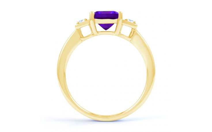 Amethyst Octagon Gold Ring product image 3