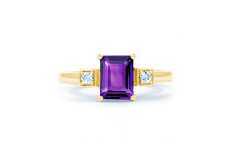 Amethyst Octagon Gold Ring product image 1