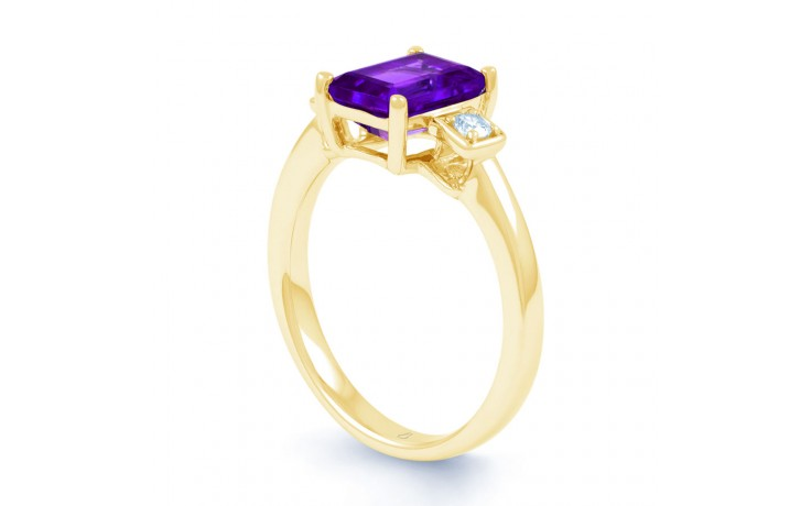 Amethyst Octagon Gold Ring product image 2