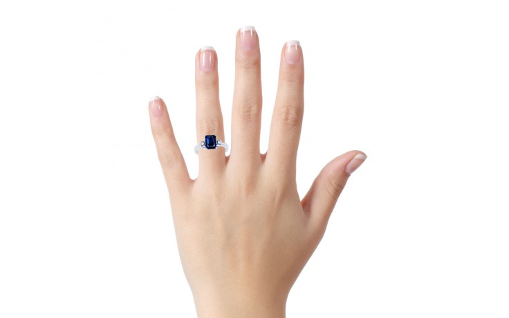 Modern Blue Sapphire Ring product image 4