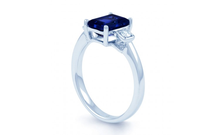 Modern Blue Sapphire Ring product image 2