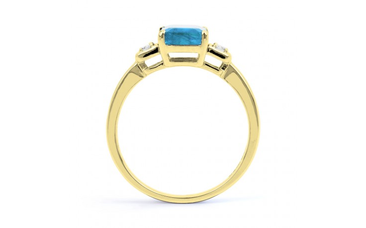 Blue Topaz Octagon Gold Ring product image 3
