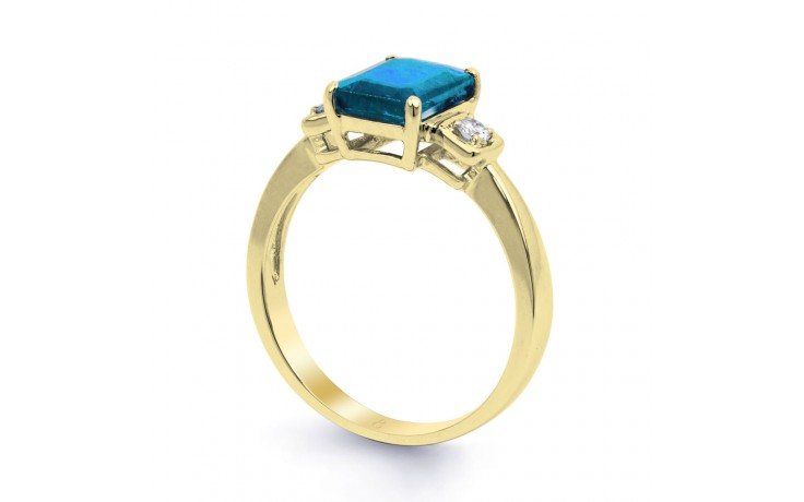 Blue Topaz Octagon Gold Ring product image 2