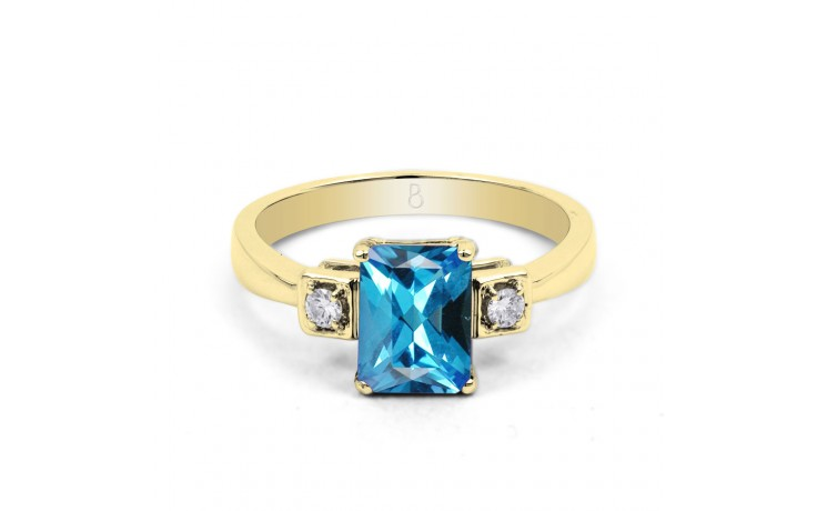 Blue Topaz Octagon Gold Ring product image 1