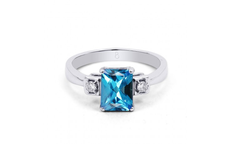 Blue Topaz Octagon Ring product image 1
