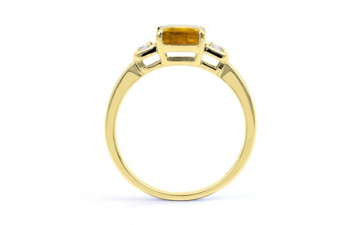 Citrine & Diamond Octagon Gold Ring product image 3