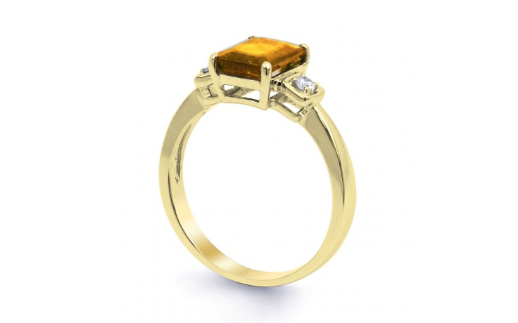 Citrine & Diamond Octagon Gold Ring product image 2