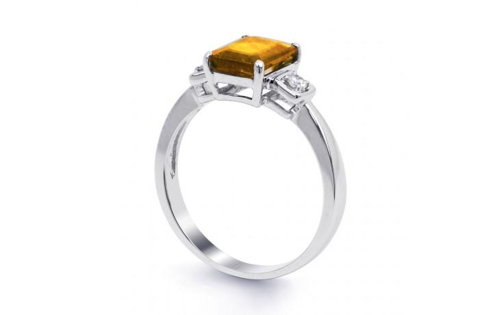 Citrine & Diamond Octagon Ring product image 2