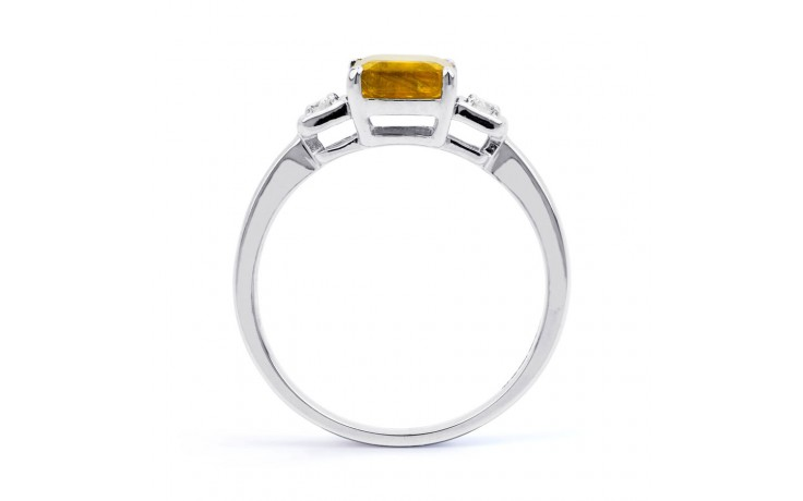 Citrine & Diamond Octagon Ring product image 3