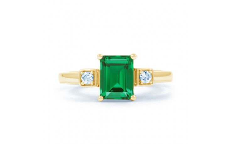 Modern Emerald Gold Ring product image 1