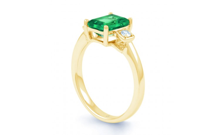 Modern Emerald Gold Ring product image 2