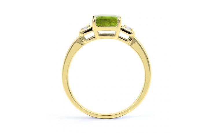 Peridot & Diamond Octagon Gold Ring product image 3