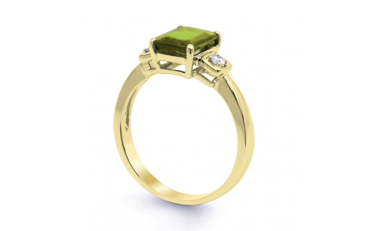 Peridot & Diamond Octagon Gold Ring product image 2