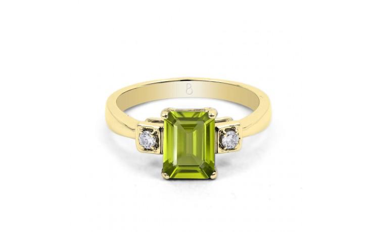 Peridot & Diamond Octagon Gold Ring product image 1