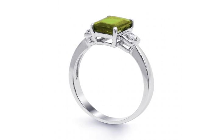 Peridot & Diamond Octagon Ring product image 2