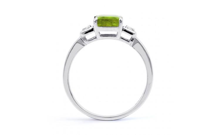 Peridot & Diamond Octagon Ring product image 3