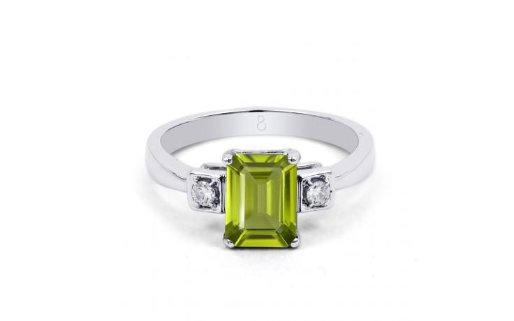Peridot & Diamond Octagon Ring product image 1