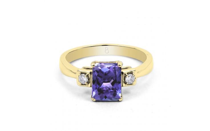 Modern Tanzanite Gold Ring product image 1