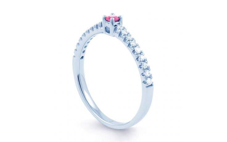 Pink Sapphire & Diamond Ring product image 2