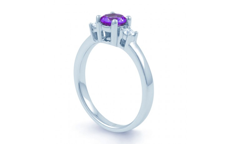 Amethyst 3 Stone Ring product image 2