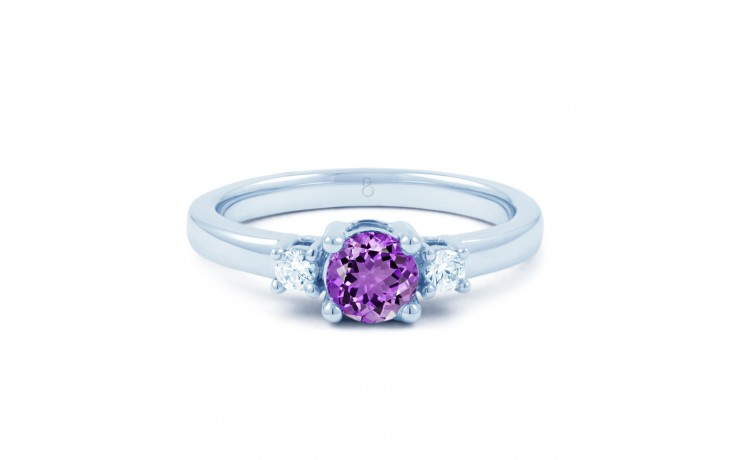 Amethyst 3 Stone Ring product image 1