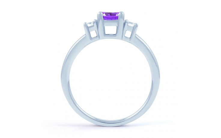 Amethyst 3 Stone Ring product image 3