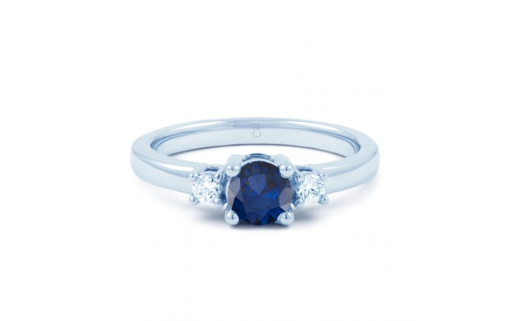 Blue Sapphire 3 Stone Ring product image 1