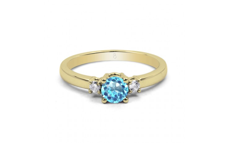 Blue Topaz 3 Stone Gold Ring product image 1