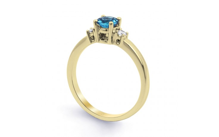 Blue Topaz 3 Stone Gold Ring product image 2