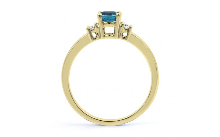 Blue Topaz 3 Stone Gold Ring product image 3
