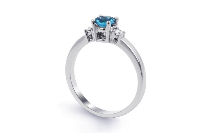 Blue Topaz 3 Stone Ring product image 2