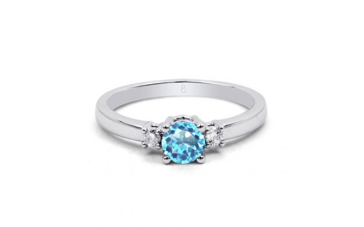 Blue Topaz 3 Stone Ring product image 1