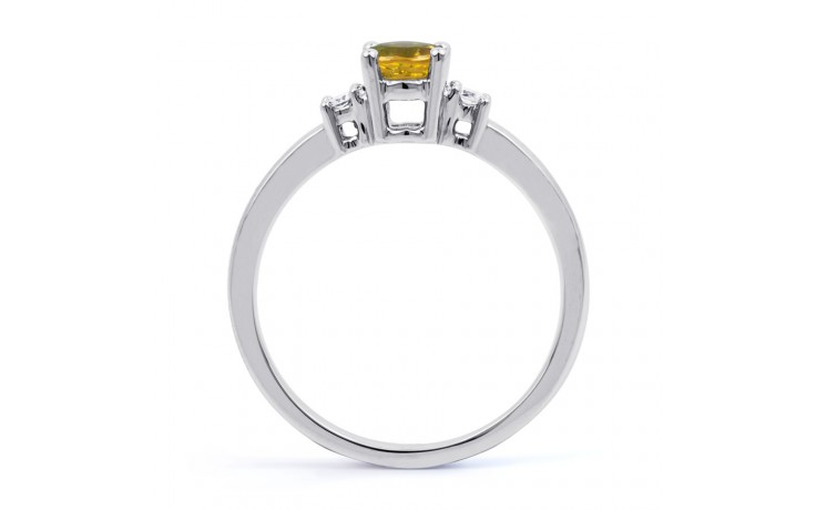 Citrine 3 Stone White Gold Ring product image 3