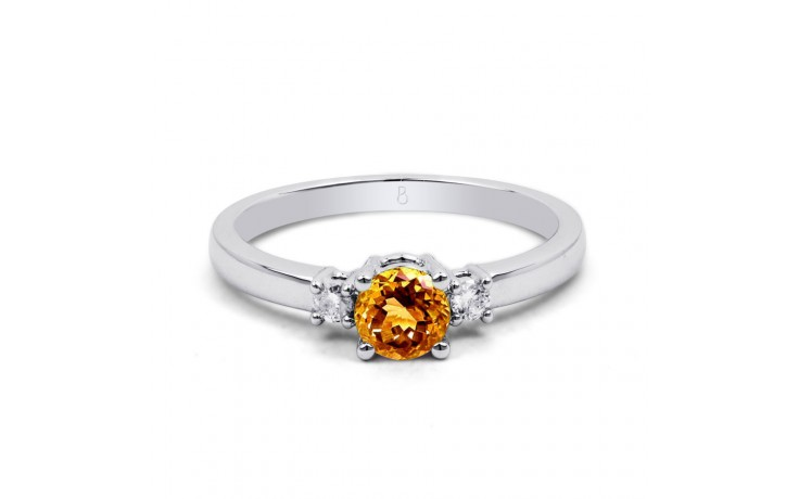 Citrine 3 Stone White Gold Ring product image 1
