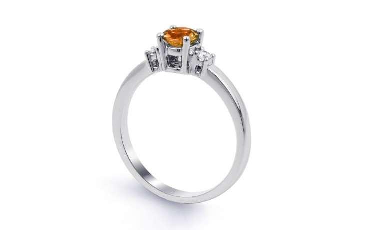 Citrine 3 Stone White Gold Ring product image 2