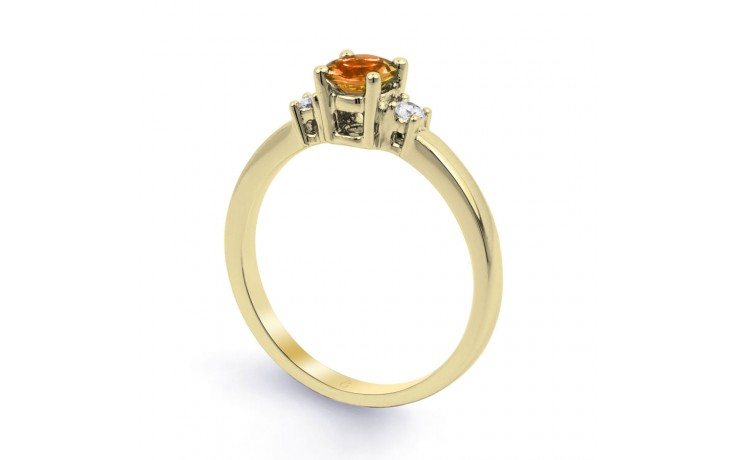 Citrine 3 Stone Yellow Gold Ring product image 2