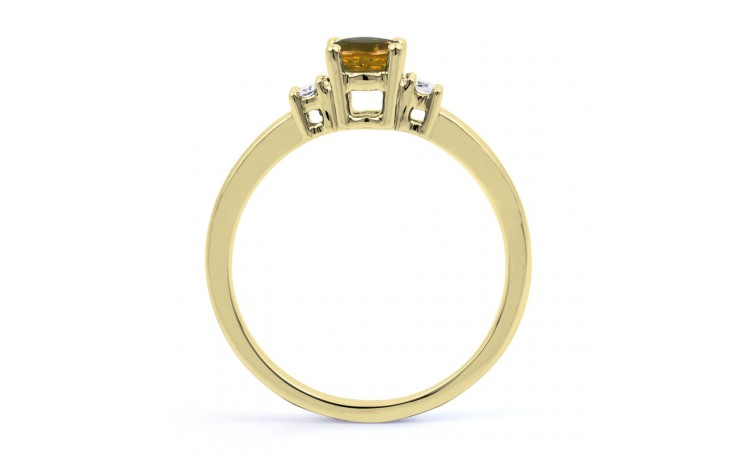 Citrine 3 Stone Yellow Gold Ring product image 3