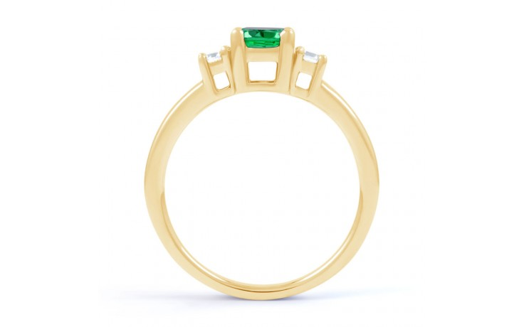 Emerald 3 Stone Gold Ring product image 3