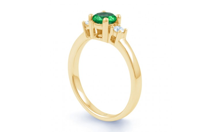 Emerald 3 Stone Gold Ring product image 2