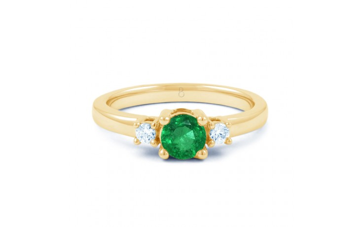 Emerald 3 Stone Gold Ring product image 1