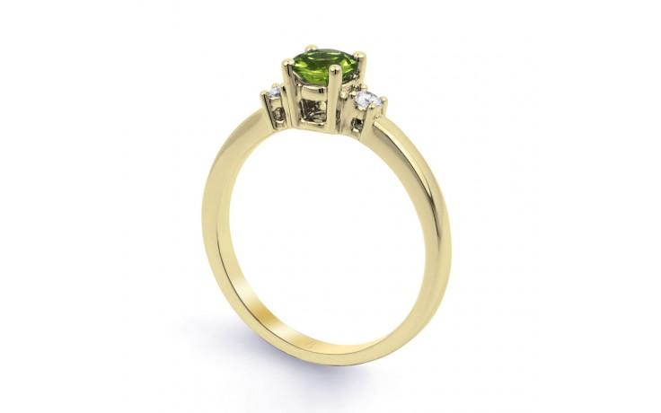 Peridot 3 Stone Yellow Gold Ring  product image 2