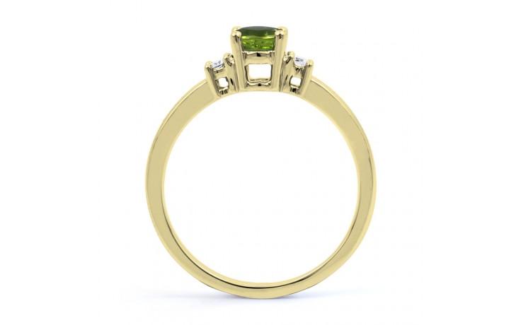 Peridot 3 Stone Yellow Gold Ring  product image 3