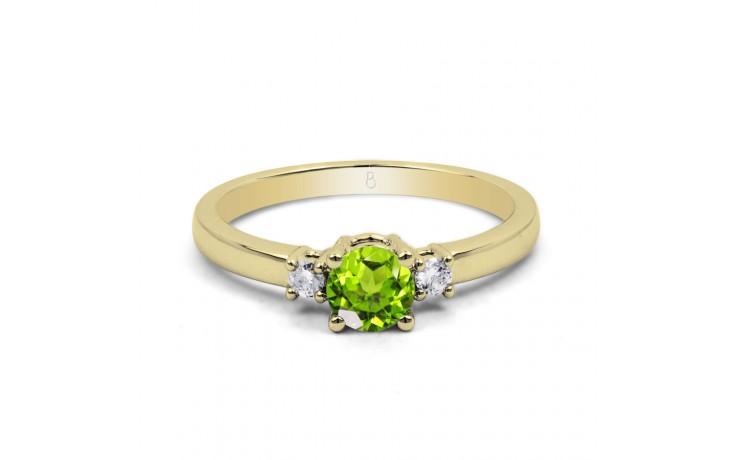 Peridot 3 Stone Yellow Gold Ring  product image 1