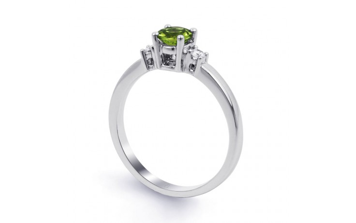 Peridot 3 Stone White Gold Ring product image 2