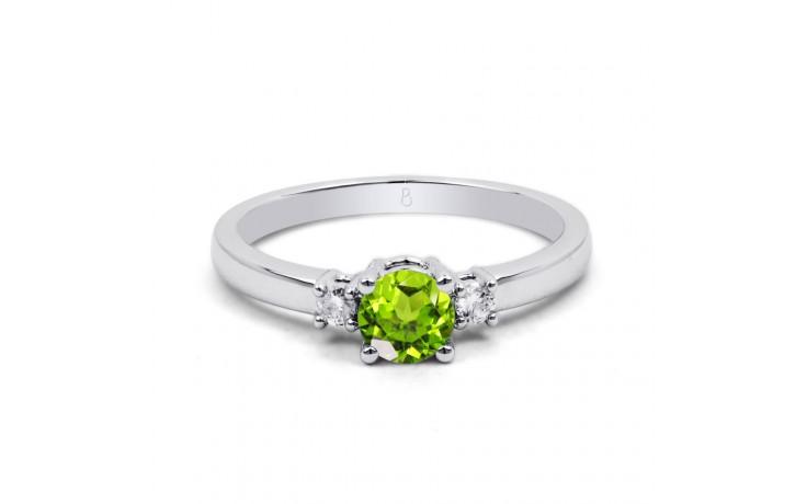 Peridot 3 Stone White Gold Ring product image 1