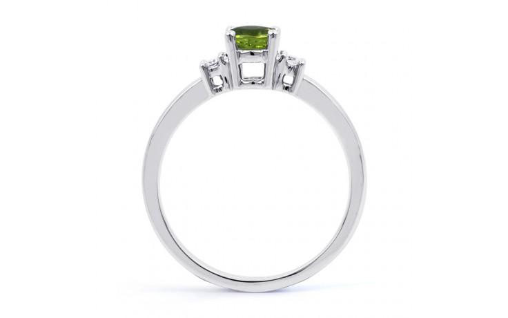 Peridot 3 Stone White Gold Ring product image 3