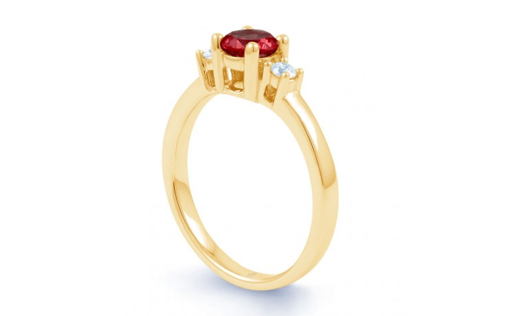 Ruby 3 Stone Gold Ring product image 2