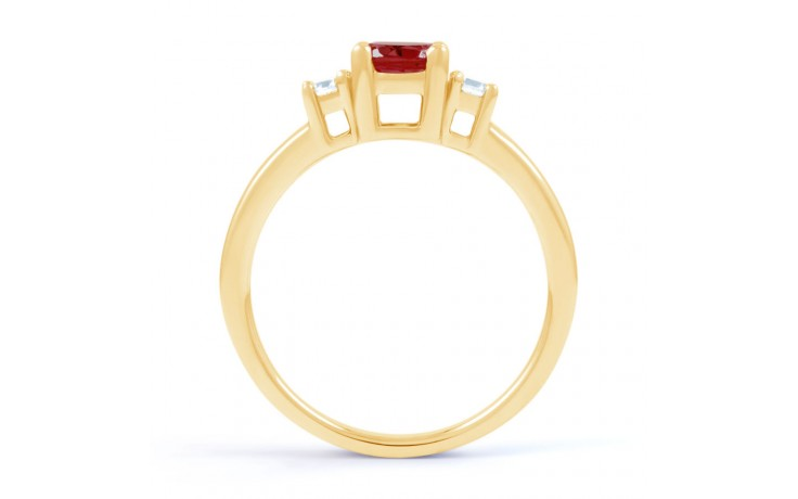 Ruby 3 Stone Gold Ring product image 3